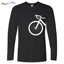 NOVA AGRADÁVEL ELEGANTE BICICLETA PROJETO shubuzhi homens T-Shirt Outono chegou venda quente algodão marca casual Longo-Luva o pescoço camisa de t