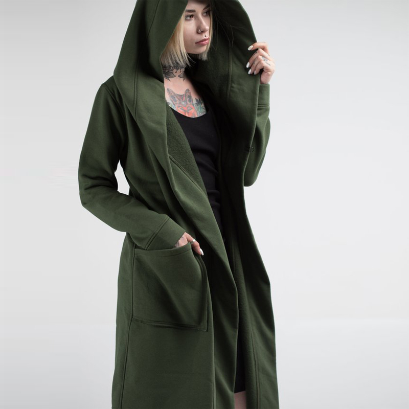 Hdc56e16dbc7a489ca734dcde7d53d94bw Unisex Winter Jacket Casual Open Stitch Hooded Long Cloak Cape Coat Cardigan Hoodie Jacket Women Men Pocket Coat Warm Trench hot