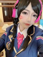 OW Hana Song Cosplay D.VA DVA Cosplay Costume Academy Girls Dress School Uniform Outfit Halloween Carnival Costumes
