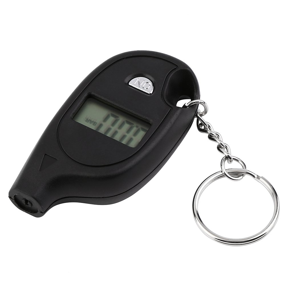 1Pc Mini Keychain LCD Digital Car Tire Tyre Air Pressure Gauge Auto Motorcycle Test Tool With Cell Lithium Battery Quality New