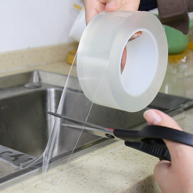 Home Kitchen Sink Gap Waterproof Mold Strong Self-adhesive Transparent Tape Bathroom Gap Self-adhesive Water Seal Tool