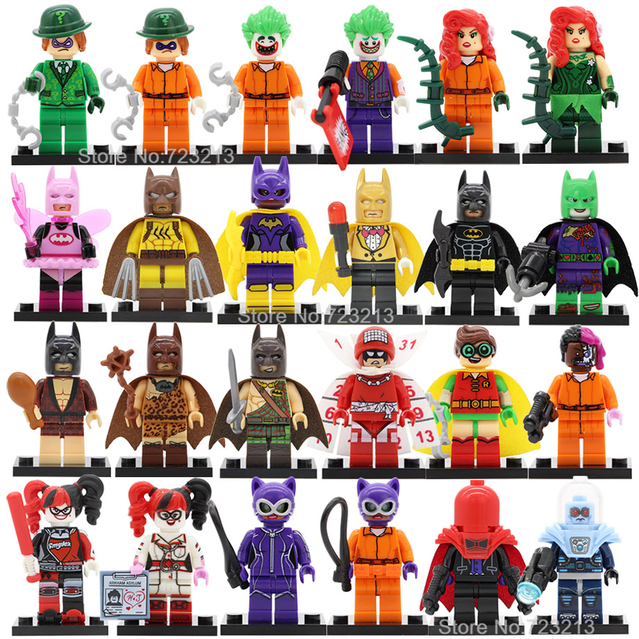 Single Sale Fairy Batman Joker Figure Poison Ivy Robin Mr Freeze Calendar Man Harl Quinn Building Blocks Models Toys Legoing