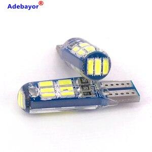 Image 1 - 500 PCS T10 W5W 194 רכב LED נורות 12V 3014 15 SMD לבן סיליקון אוטומטי תא מטען אורות חניה אור פנים כיפת קריאת מנורת הנורה