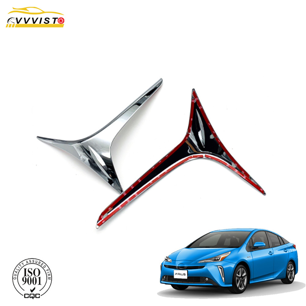 VVVIST Car Accessories For Toyota Prius 2019 2020 ABS Chrome Front FogLight Lamp Eyelid Cover Trim Chromium Styling