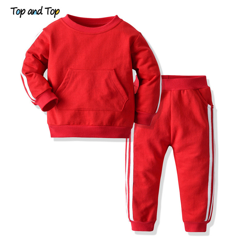 Clothes-Sets Sweatshirt Newborn Baby-Boys-Girls Outfits Suit Toddlers Striped Long-Sleeved