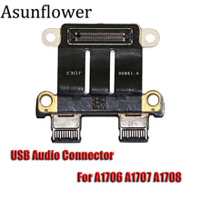 Asunflower DC Power Jack I/O Board For MacBook Pro 13 15 A1706 A1707 A1708 2016 820-00484-02 Type-C USB-C Charging Connection