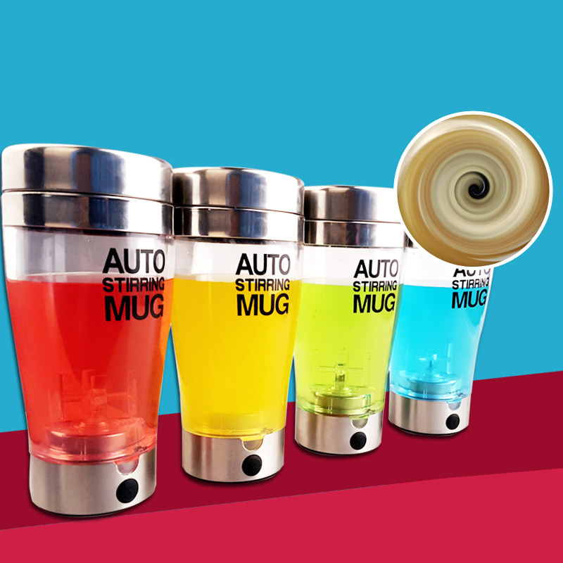 400 Ml Electric Automatic Shaker Bottle Stirring Mug Protein Powder Stirring Cup Gym Kitchen Nutritions Fitnes Shaker Bottle image