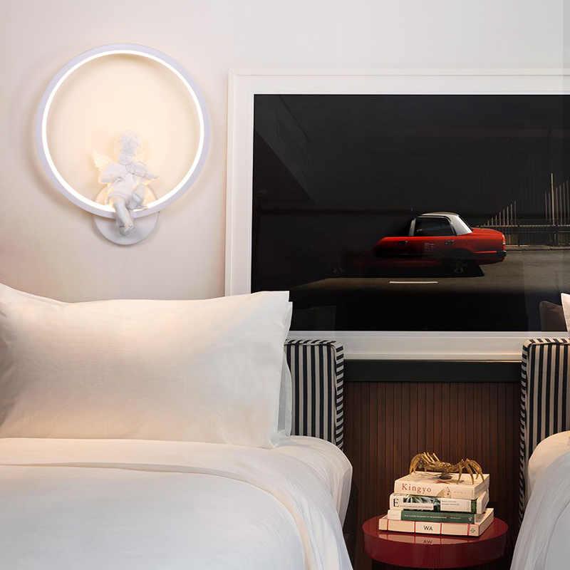 Nordic спальни ночники светодиодный настенная лампа для чтения творческий исследование современный минималистский гостевых комнат отеля Ангел прикроватная лампа