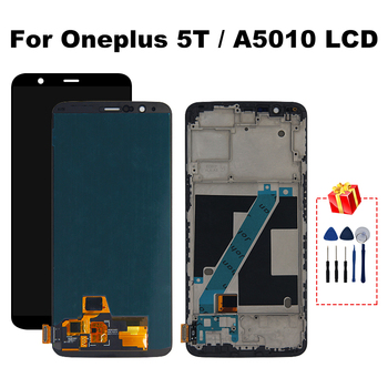 """6.01"""" display For Oneplus 5T LCD A5010 Touch Screen Digitizer LCD Display Replacement Assembly Parts With Frame"""
