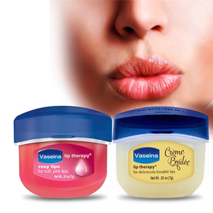 Lip Makeup Care Vaseline Lip Therapy Petroleum Jelly Lip Balm Original Cocoa Brulee 7g 0.25 Oz Lipstick(China)