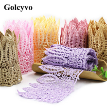 1Meter Colorful Crochet Lace Trims Ribbon Curtain Colthing DIY Sewing Crafts 9.2cm Width