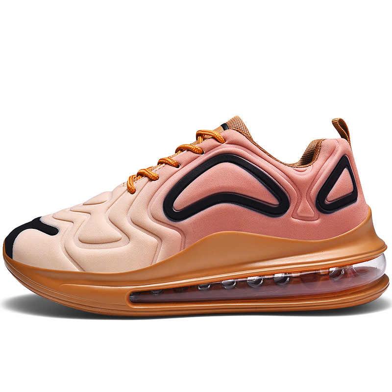 Marka koşu ayakkabıları erkekler için hava yastığı spor ayakkabı örgü nefes aşınmaya dayanıklı kadın spor eğitmenler spor ayakkabı spor ayakkabı adam