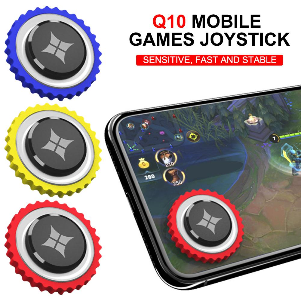 Q10 Mini Mobile Games Joystick For Android IOS Mobile Computer Round Universal Game Joystick Screen Sucker Controller image