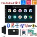 Автомагнитола 2 Din, Android 10,1, мультимедийный видеоплеер, MP5-плеер, двойная стереосистема, GPS-навигация, Bluetooth, Wi-Fi плеер, автомобильное радио