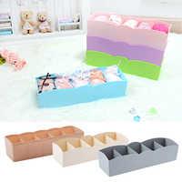 Storage Box 5-grids Multi-function Plastic Drawer Organizer Underwear Closet Bin