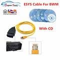 Адаптер OBD-штепсельной вилки, кабель для передачи данных для BWM ENET OBD2, кодирование E-SYS ENET ICOM для серии F, Автомобильный Диагностический кабель ...