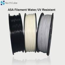 Filamento de ASA para impresora 3D, resistente al agua/UV, 1,75 MM, material de impresión 3D, mayor rigidez que el ABS