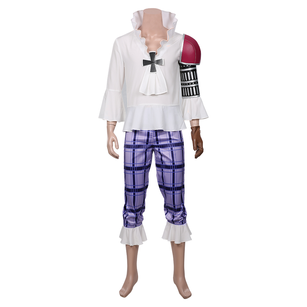 Details about  /One Piece:Pirate Warriors 4 Basil Hawkins Cosplay Costume Carnival Suit
