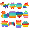 Rainbow Popits Fidget Stress Relief Squeeze Toys For Kid Squishy Sensory Anti Stress Game Hand Fidget Relax Toy Brinquedos