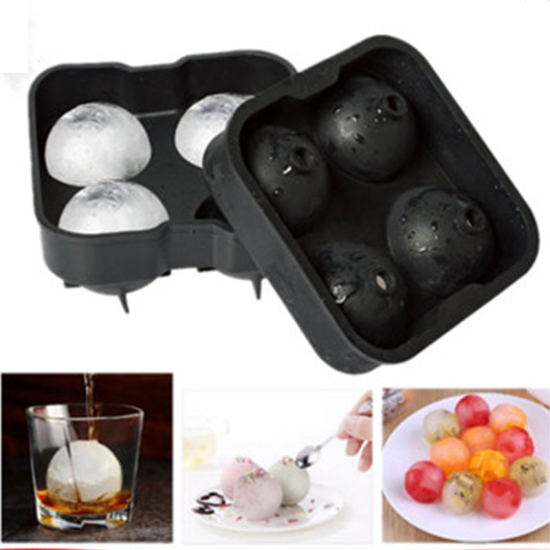 Sphere Ice Cream Mold Ball Ice Cube Round Ice Mould Bar Accessiories Kitchen Ice Cream Tools