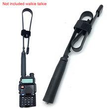 48 Cm dwuzakresowy łącznik CS taktyczny przenośny do Walkie Talkie składany sygnał radiowy antena antena sma-kobieta tanie tanio Woopower 0 5 Godzin Other
