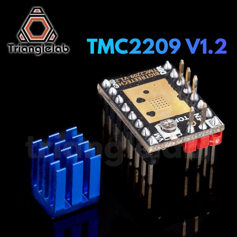 Trianglelab tmc2209 v1.2 motor deslizante driver uart vs tmc2208 tmc2130 a4988 peças de impressora 3d para ender 3 skr v1.3 v1.4 mini e3