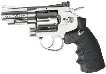 Dan Wesson 2.5 CO2 BB Revolver, Silver air Pistol Metal wall sign asg licensed cz 75 p 07 duty co2 177 bb air pistol black
