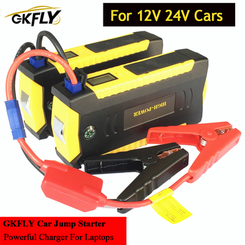 GKFLY Multi-Function 12V 24V Petrol Diesel Car Jump Starter Portable 4USB Power Bank Mini Compass SOS Lights Auto EPS Free Ship