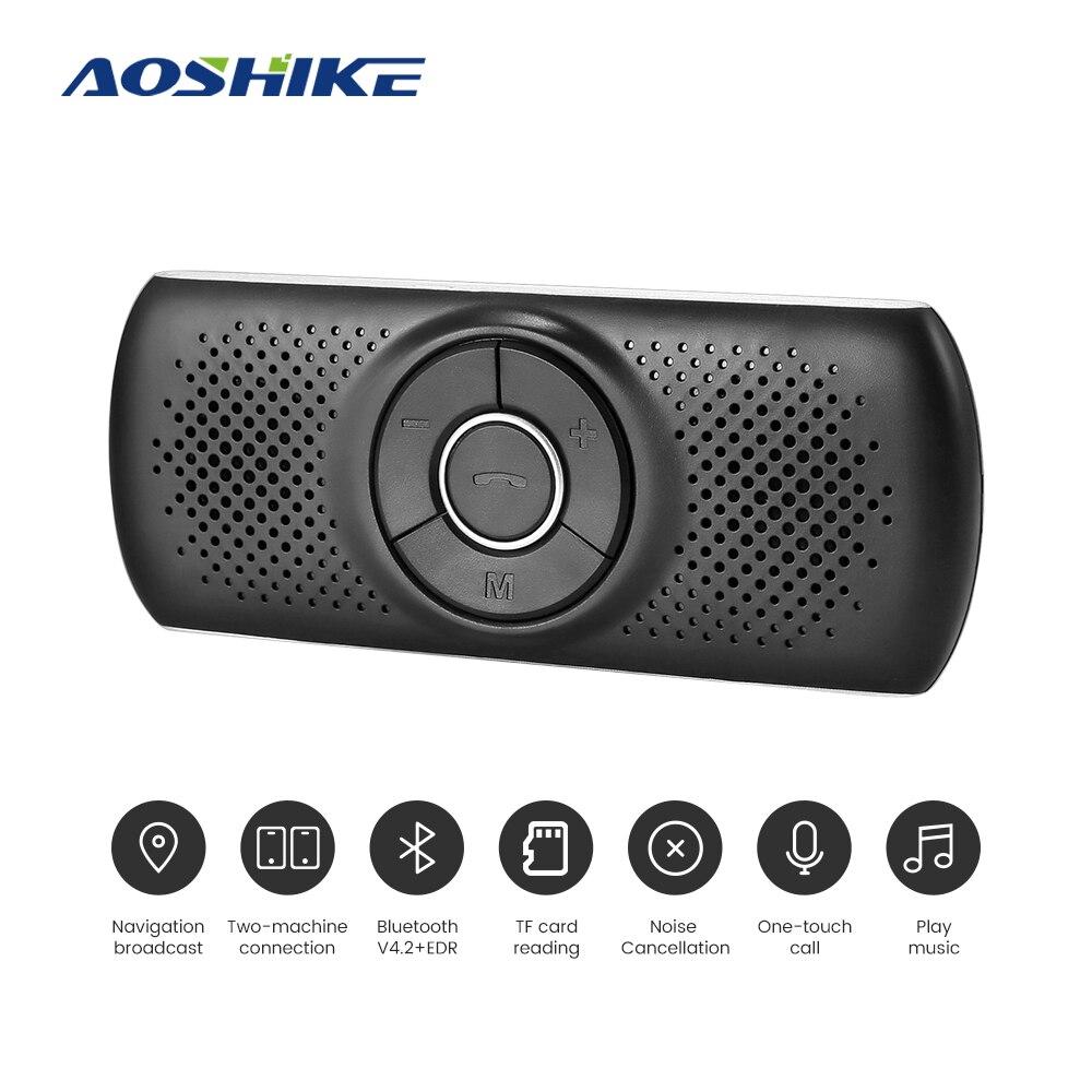 AOSHIKE Drahtlose bluetooth Car Kit Set Freisprecheinrichtung Multipoint Sonnenblende Lautsprecher Für Telefon Smartphones Auto Subwoofer
