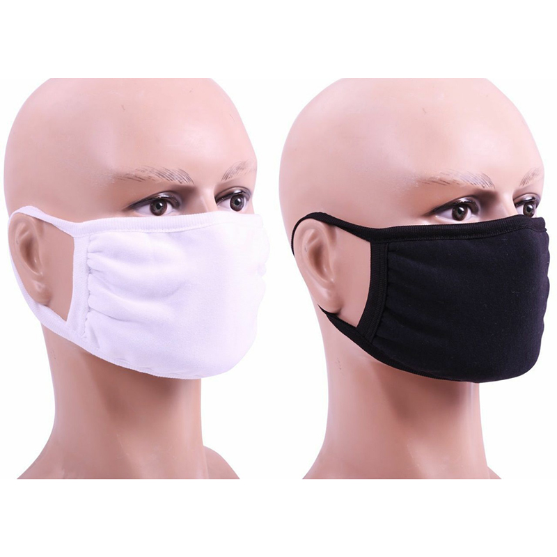Cotton Masks Dust-proof 2 Layer Mouth Mask Activated Carbon Filter Mouth-muffle Mask Anti PM2.5 Fabric Face Mask Outdoor