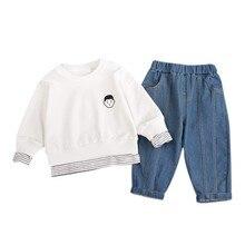 купить Autumn Baby Boys Clothes Long Sleeve Cartoon T-shirt and Pants 2Pcs Cotton Boy Suits Children Clothing Sets Toddler Sweatshirt по цене 676.06 рублей