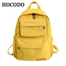 HOCODO Solid Color Backpack For Women 2019 Waterproof Nylon