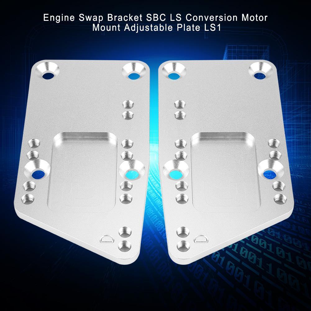 Motor Swap Halterung SBC LS Umwandlung Motor Mount Einstellbare Platte LS1 Eine Hohe Haltbarkeit auto Professionelle zubehör