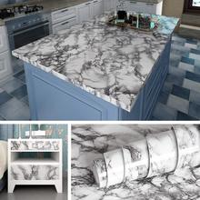 LUCKYYJ Peel and Stick Marble Wall Paper Kitchen Countertop Film Vinyl Self Adhesive Wall Sticker for Bathroom Table Desk Decor