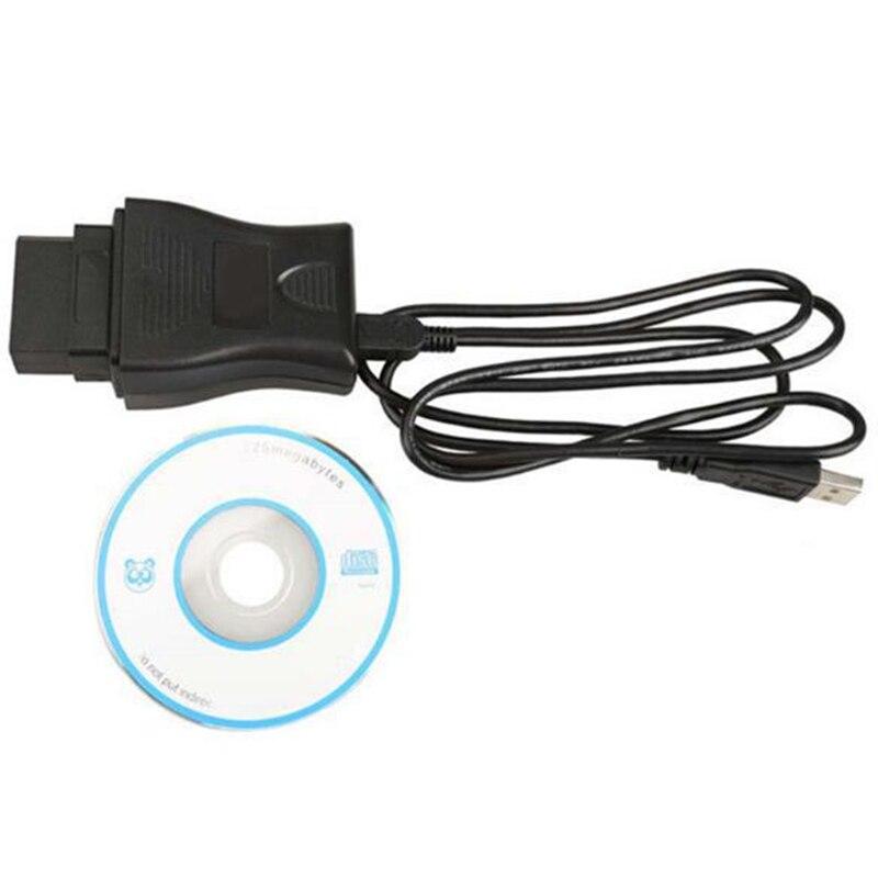 HaoYiShang Cable de la Herramienta de diagn/óstico del Coche de 14Pin OBD2 DDL USB para Nissan a/ño 1989 a 2000