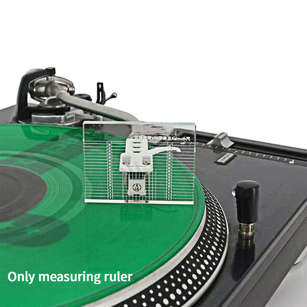 Phono Tonearm Lp Clear Balance Turntable VTA Cartridge Parts Measuring Vinyl Record Player Tool Acrylic Headshell Azimuth Ruler