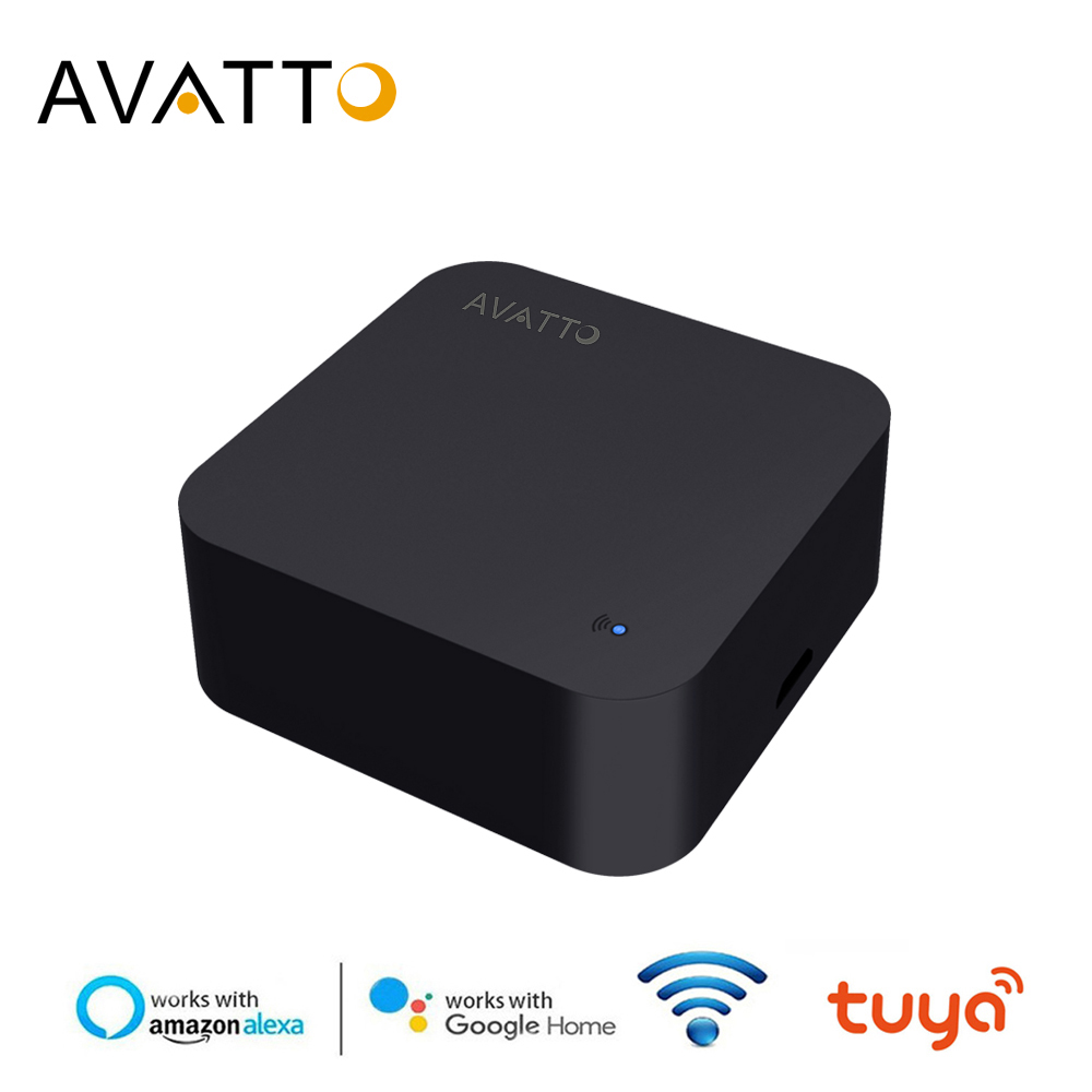 AVATTO Universal IR Remote Controller, Smart Home Automation WIFI IR Remote Controller Voice Control For Alexa Google Home