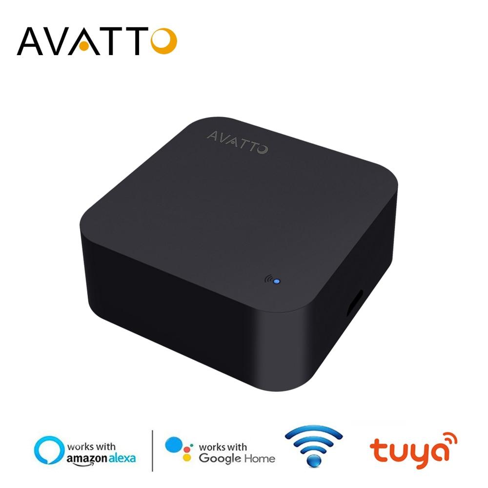 AVATTO Universal IR Remote Controller, Smart Home Automation WIFI IR Remote Controller Voice Control For Alexa Google Home