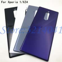 6.5 New For Sony Xperia 1 XZ4 J8110 J8170 J9110 Glass Back Battery Cover Rear Door back case Housing Case Repair Parts