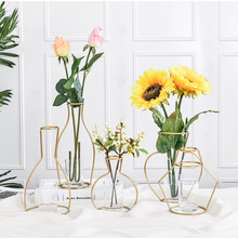 Vase INS Rack-Holder Table-Decor Iron-Line Artificial-Flowers Metal Nordic