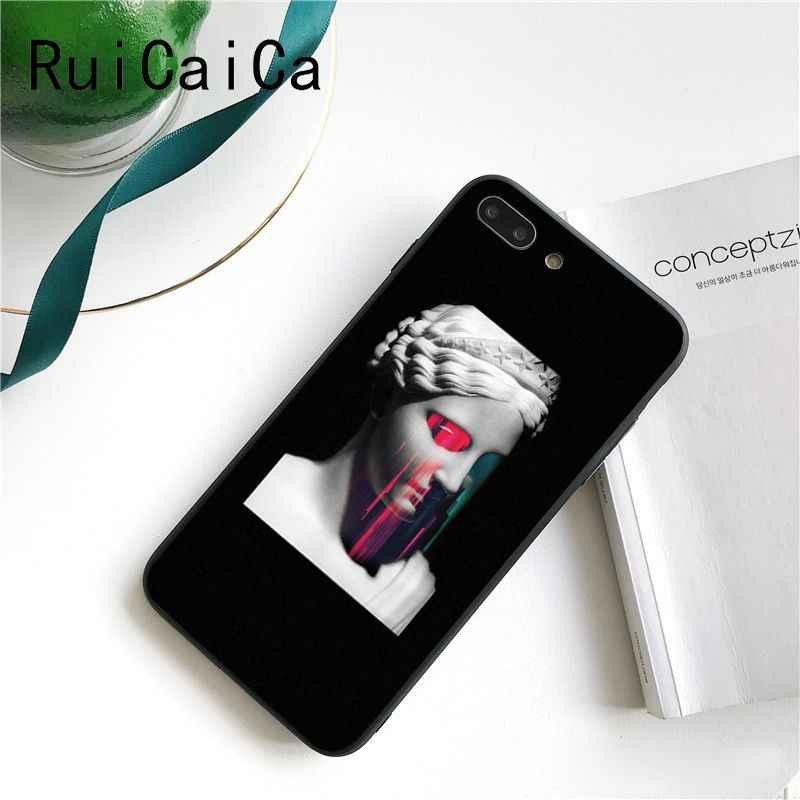 Ruicaica Mona Lisa Art David เส้นสีสันน่ารักสำหรับ iPhone 8 7 6 6S XS X MAX 5 5S SE XR 11 Pro Max