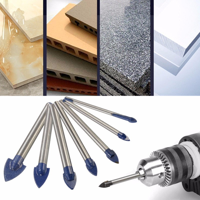 4/5/6/8/8/10/12/14/16mm Tile Ceramic Triangle Drill Bit Tip Marble Diamond Hole For Ceramic Tile