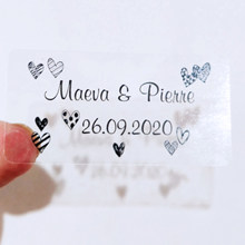 100 personalized rectangular bubble Wand labels, wedding stickers, clear labels, custom logo name and names
