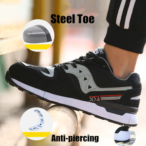 Image 3 - Size 47 Safety Boots Mens Breathable Fashion Safety Men Shoes With Steel Toe Cap Work Sneakers Resistance Zapatos De Seguridad