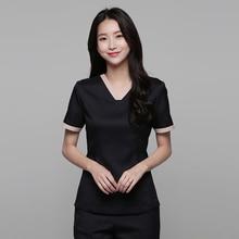 Beautician overalls female summer professional suit temperament fashion beauty salon shop health high-end