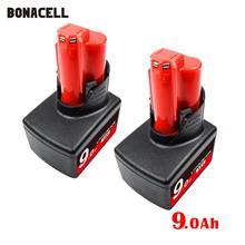 Сменный литий-ионный аккумулятор M12 Bonacell 12 в 9000 Ач 2411 мАч для аккумуляторов Milwaukee, электроинструмент XC 48-11-2420 48-11-L50