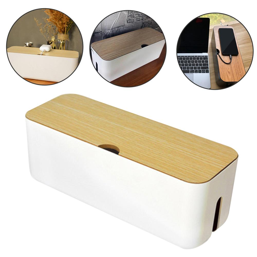 Cable Storage Box Power Strip Wire Case Anti Dust Charger Socket Organizer Desktop Network Line Storage Bin