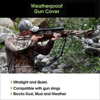 Gun Slicker Scoped Rifle Case, Water Resistance Camo Shotgun Case, Rifle Sleeve Cover Fast Gun Case for Shooting Hunting 2