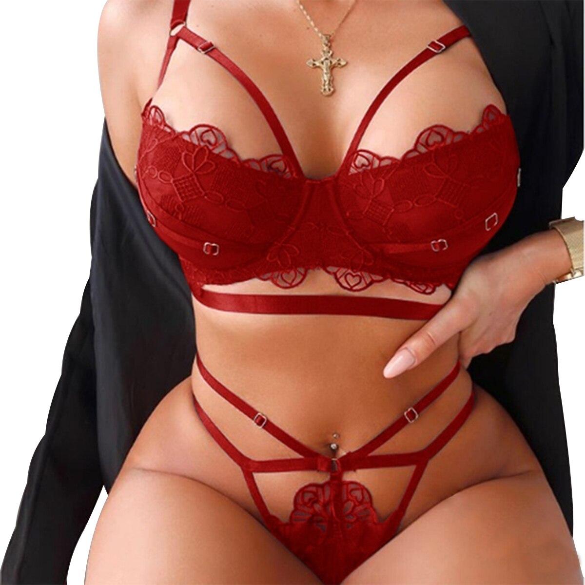 Женское сексуальное нижнее белье для женщин, стринги, кружевное нижнее белье, ночная рубашка, одежда для сна, Женский комплект нижнего белья...