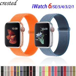 Nylon Strap for Apple watch Band 44mm 40mm Breathable wristband for iWatch series 6 SE 5 4 3 2 1 42mm 38mm